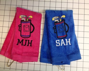 Personalized Golf towel, golf, monogram golf towel, golf party, golf gift, embroidered golf towel, custom golf towel, golf accessories