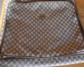 Vintage Gucci Garment Travel Luggage Cary On Suitcase Brown