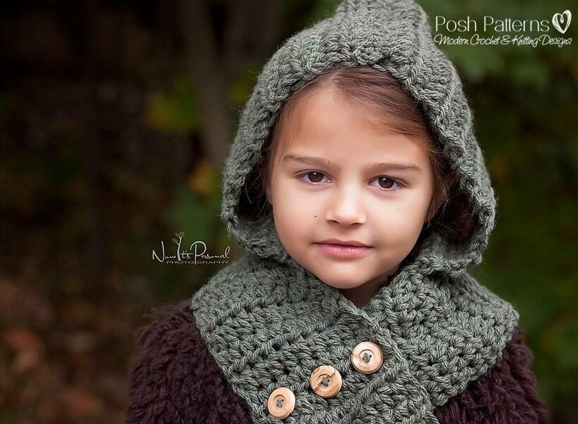Free Crochet Pattern Hooded Scarf Cowl