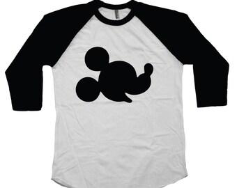 Adult Disney Shirt Mickey Mouse Silhouette Personalized Family Disney Shirts Disney World Disney Land