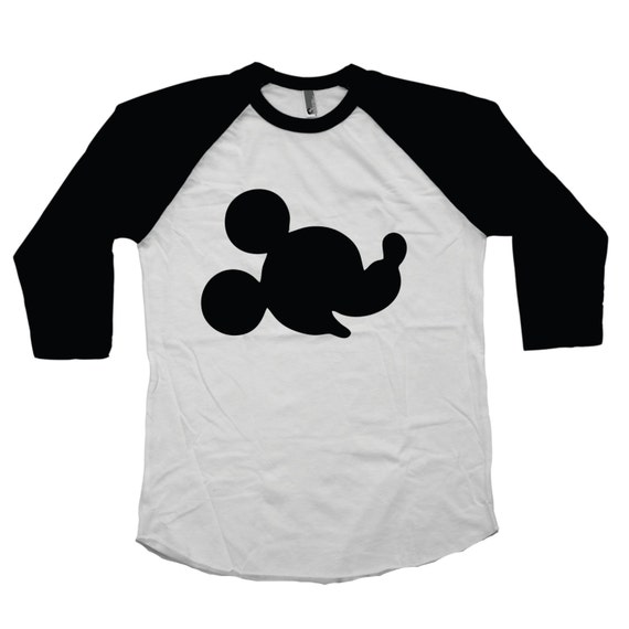 adult disney shirt mickey mouse silhouette personalized family. Black Bedroom Furniture Sets. Home Design Ideas