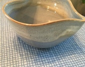 Blessing Bowl Meditation Heart Shaped Bowl with light blue with light green seafoam green rim  Blessing Bowl love wedding