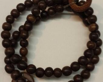 15 3/4 inch Strand 6mm Round Robies Wood Beads Medium Dark Brown