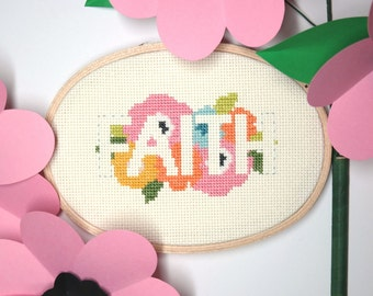 Faith | Modern cross stitch | Inspirational embroidery