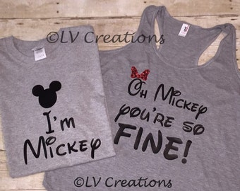 Mickey and Minnie Mouse Disney Oh Mickey You're So Fine tshirt Epcot tee Shirt Mickey Mouse