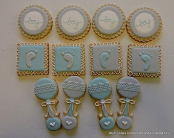 New Baby or Baby Shower Cookies Set (#2575)