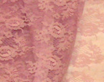 """Lavender Orchid Floral Lace with Double Scallop 2yd 45"""" wide Doll Clothes Wedding"""