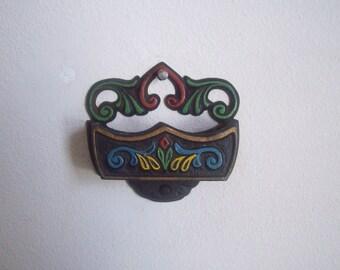 Wilton cast iron match holder match stick safe original paint Scandinavian kitchen
