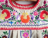 Vintage Children's Mexican Embroidered Dress