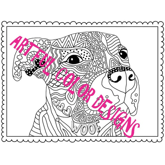 Pit Bull Dog Coloring Page Printable Download For Lovers Of All Ages