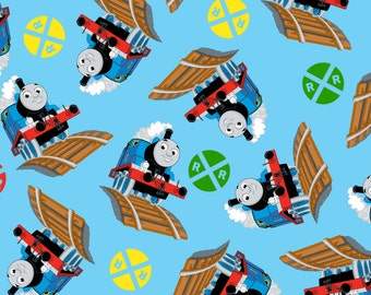 Thomas The Tank Engine And Signs Fleece Fabric by the yard