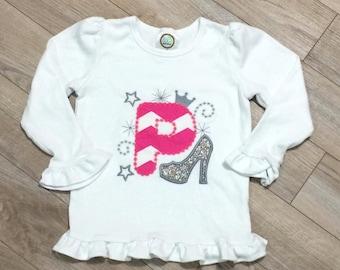 Girls' Princess Initial Shirt