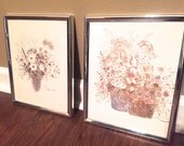 Set of floral wall prints