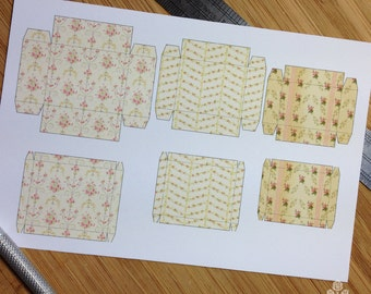 PRINT OUT Butter Roses Box Set for Dollhouse Miniature 1/12 Scale