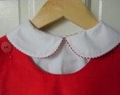 Girls Christmas Corduroy Jumper Dress Personalized