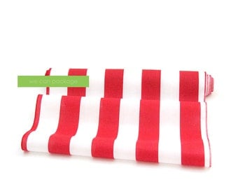 """SALE! Red and White Striped Table Runner 18"""" x 108"""" Cotton"""