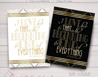 PRINTABLE - Poster, Gatsby, Roaring 20's, Black, Gold, White, Instant Download