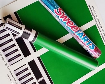 Star Wars Green Lightsaber Candy - Printable Artwork