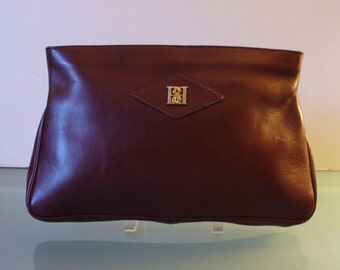 Vintage Borelli Collection Oxblood Large Clutch