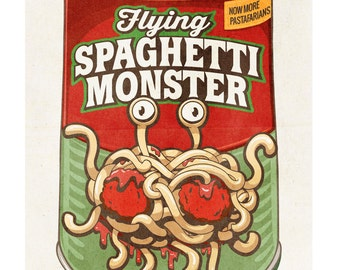 FSM Flying Spaghetti Monster Poster 13x19