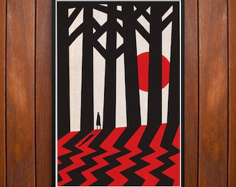 Twin Peaks Poster or Framed Print, Fire Walk With Me in the Black Lodge