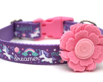 "Felt Dog Collar Flower Add-on For Dog Collar FOR 1"" BUCKLE COLLAR"