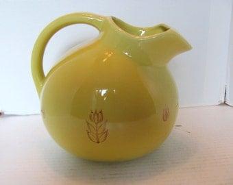 Yellow Ball Tilt Pitcher by USA Potteries