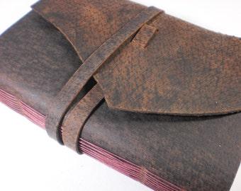 Handmade Blank Journal Distressed Leather Cover OOAK