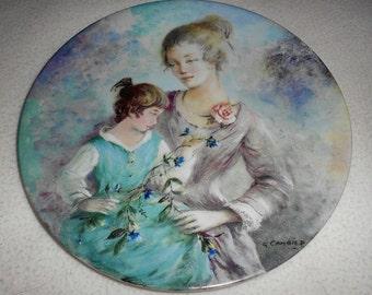 Limoges Vintage Mother's Day Plate 1984  Limoges La Fete Des Meres