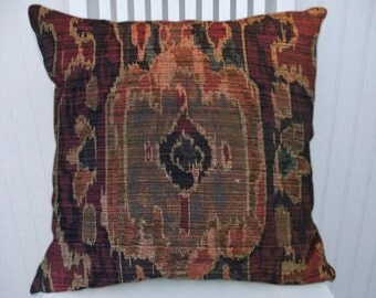 Red Brown Black Decorative Throw Pillow Cover-18x18 or 20x20 or 22x22-Abstract Pillow Cover- Accent Pillow Cover