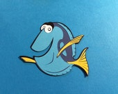 "Dory, Best of Pixar Cricut, 3 1/2"", Black, 2 Blues, Yellow"