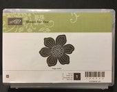 Stampin' Up!  BLOOM FOR YOU Retired Stamp Set Wood Mounted