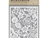 Hero Arts Stencils: Bold Floral Stencil SA067, Flower Stencils, Embossing Paste, Ink Blending, Background Stencil for Card Making