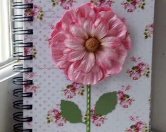 5 x 7 Lined Pink Floral Journal