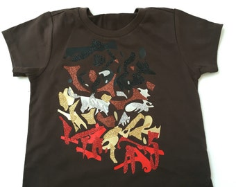 SALE 24m The Picasso Shirt | Brown | unique | one of a kind | kids style | Kids Shirt | Toddler shirts | Eclectic
