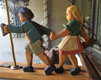 Hansel and Gretel  Hanging Folk Lamp