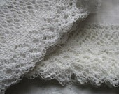 Shabby chic lace pillow cases ~ worn and comfy