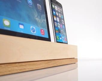 iPhone / iPad Docking Station / iPhone and iPad Charging Station - iPad Air / iPad Air 2 Dock - modern style