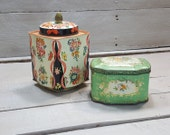Vintage and Beautiful Floral Tins, Made in England