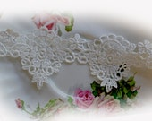 Reneabouquets Trim- 2 Inch Wide Rose Medallion Lace, Embroidery,  Venice , Bridal, Costume Design, Lace Applique, Crafting