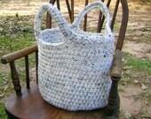 Crochet Market Bag Tote Bag Purse Handbag Aran Fleck