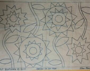 Playful Sunflowers Rug Pattern