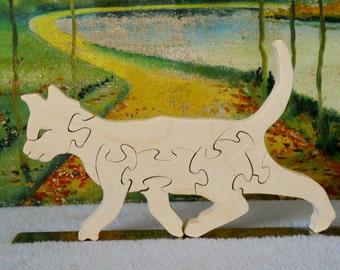 Wooden Cat Puzzle