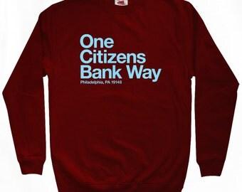 Philly Baseball Stadium Sweatshirt - Men S M L XL 2x 3x - Philadelphia Shirt - 4 Colors