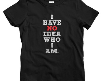 Kids Who Am I T-shirt - Baby, Toddler, and Youth Sizes - Inspirational Tee, Be Somebody, Grow Up, Life - 4 Colors