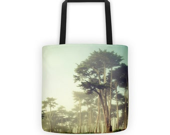 Foggy Forest Northern California Tote for Eco Shopping and School and Sundry