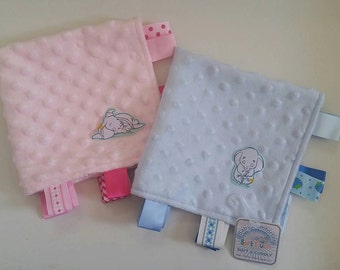 Disney Dumbo Taggy Blanket Baby Comforter/Comfort Blanket - New Baby Gift/Baby Shower Gift - Vintage Classic Style