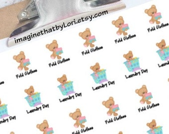 Laundry Day planner stickers