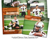 FOOTBALL PACK E - Sports Memory Mate Photo Templates - Digital Files Only