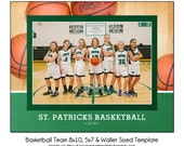 BASKETBALL Team 4 - Sports Photo Template - Digital File
